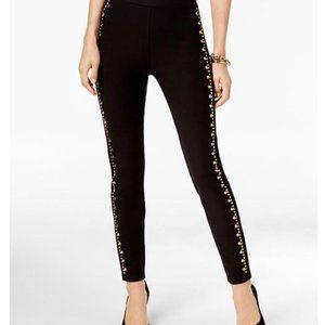 Michael Michael Kors Black Studded Leggings